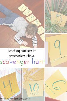 Preschool scavenger