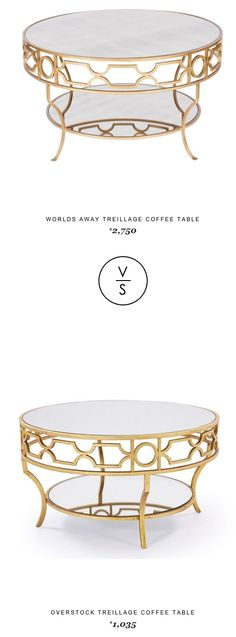 @inthomescapes Worlds Away Treillage Coffee Table $2,750 Vs @overstock Treillage Coffee Table $1,035