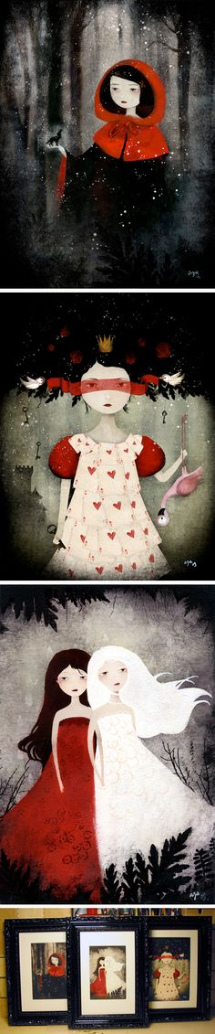 """little red and the wolf"" - ""the queen of hearts"" - ""snow white and rose - red"""