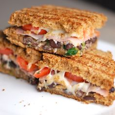 Cilantro Lime Black Bean Panini