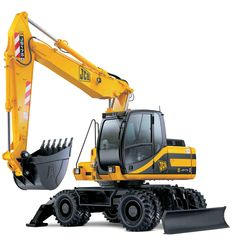 Wheeled Excavator. I can count off many parts on this photo that we make!