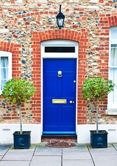 Blue is an American classic (especially against brick!), but opting for bright cobalt instead of traditional navy keeps it feeling fresh.  - GoodHousekeeping.com