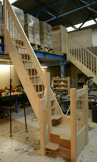 Space saver loft staircase build google search house for Quarter landing staircase
