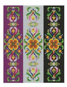 Bead Loom Vintage Motif 1 2 3 Multi-Color by MyTreasureIsland
