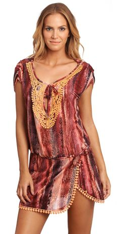 351303af2d Despi 2015 Sangria Samoa #Coverup 120138 | South Beach #Swimsuits Maternity  One Piece Swimsuit