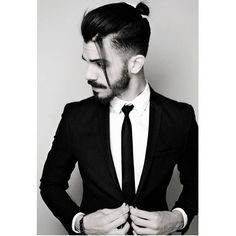 Men Taper Fade Top Knot Bun Hairstyle 2015 | Latest Men's Fade ...