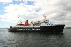 On our way to Arran on the Caldonian MacBrayne Ferry......................