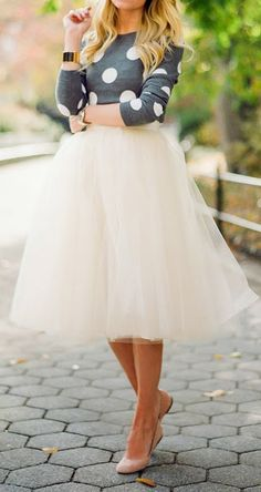 ...I would dare to wear long tulle skirts. I mean where else is this appropriate?