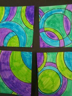 Art Room Blog: 2nd Grade Circle Spin and Frank Stella...