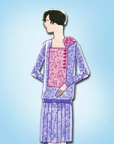 1920s Flapper Dress Pattern Junior Girls Uncut Butterick Original Size 12 | eBay