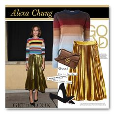 """""""Get the look - Alexa Chung"""" by svijetlana ❤ liked on Polyvore featuring Marco de Vincenzo, Gucci, Gianvito Rossi, GetTheLook, alexachung and polyvoreeditorial"""
