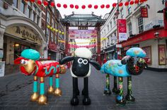 Hope you agree that these Chinese themed sculptures, part of the #ShaunintheCity trail, which is coming to London and the #CityofLondon soon, look baa-rilliant!  You will find the trail maps plus more details at the City of London Information Centre!  Charity no. 1043603. Shaun in the City ©& ™ Aardman Animations Ltd 2015