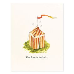 In Tents Love - Occasion Card
