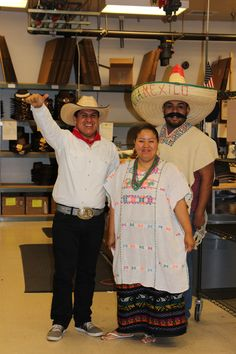 Fernando, Kesia, & Rigo where all smiles with their Mexican Attire. #AmericanHatMakers