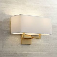 "George Kovacs Rectangle 11"" High 2-Light Gold Wall Sconce - #W1297 