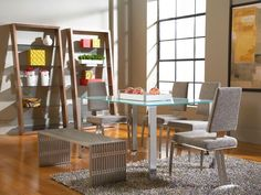 The Slim dining table with Tania chairs have a contemporary appeal that transcends the ordinary.