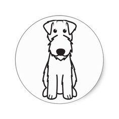 Kerry Blue Terrier Dog Cartoon Sticker