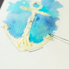 Learn how to make an illustration using masking fluid in watercolor paintings. It's easy, fun and addictive!