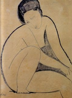 Nu assis, Modigliani 1918 (via frenchtwist: akapearlofagirl: fleurs-maladives:)
