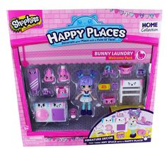 Amazon.com: Happy Places Shopkins Season 2 Welcome Pack Bunny Laundry: Toys & Games