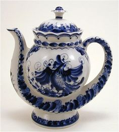 Russian teapot from Gzhel