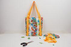 TUTO COUTURE GRATUIT : comment coudre des anses facilement - patron de sac gratuit Bucket Bag, Reusable Tote Bags, How To Sew, Tuto Sac, Purse, Home