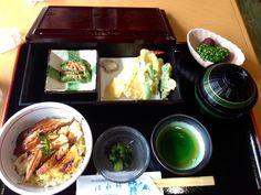 Eel and tempura from himeji