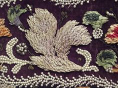 embroidery. each feather - a shell (Russian Ethnographic Museum)