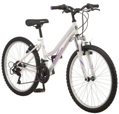 Roadmaster 24″ Granite Peak Girls Mountain Bike, White Roadmaster Granite Peak Girls Mountain Bike, 24 In. wheels, White:Designed with 24-inch wheels, this bike fits riders ages 8 and up, or 4 feet 8 inches to 5 feet 6 inches tall.Steel mountain frame and front suspension fork offer a smooth ride.18-speed twist shifters offer smooth shifting […]