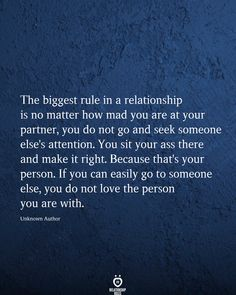 The Biggest Rule In A Relationship Is No Matter How Mad You Are At Your Partner - Real Time - Diet, Exercise, Fitness, Finance You for Healthy articles ideas Relationship Challenge, Relationship Pictures, Relationship Rules, New Relationships, Trauma, Prayer For Married Couples, Quotes To Live By, Me Quotes, Crush Quotes