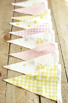 Mix and match wedding bunting.