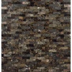 MS International, Emperador Splitface 12 in. x 12 in. Brown Marble Mesh-Mounted Mosaic Tile, SMOT-EMP-SFIL10MM at The Home Depot - Mobile