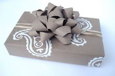 Wrapping Paper  Gift Paper  Hand Printed by everydaysaholiday, $14.00