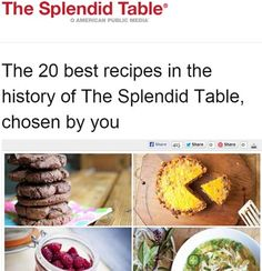 Whenever Zoe and I are on the Splendid Table, NPR's cooking show starring Lynne Rossetto Kasper, we leave behind a recipe. Now the show's national listeners have voted our basic recipe as their all...