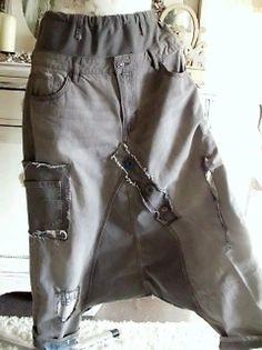 jeans patwork hippie haremshose rockabilly biker lagenlook boheme boy upcycling