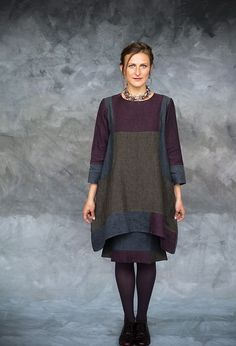 Emily Tunic, patchwork linen, £285 over Florence Skirt, £255