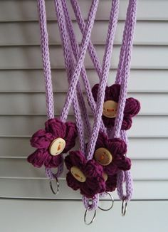 crocheted keychains
