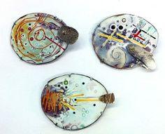 Ken Bova enamel pendants