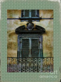 Old Italian Balcony and Shutters
