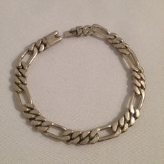 Vintage Mexico Sterling Silver 925 6.5mm Link Chain Bracelet Mexican Jewelry on Etsy, $52.99