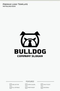 Bulldog Logo Template, #Bulldog #Logo #Template #Logo