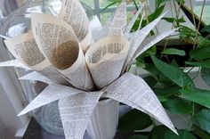 This bouquet and 19 other creative ways to decorate with book pages--very clever