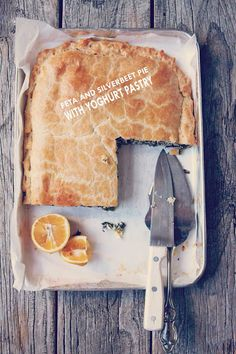 Milk and Honey: Feta and Silverbeet Pie (Swiss Chard) with Yoghurt Pastry Chard Recipes, Snack Recipes, Arancini Recipe, Tasty, Yummy Food, Party Food And Drinks, Best Food Ever, Eating Organic, Milk And Honey