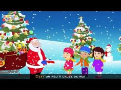 Little Santa Claus in French (Petit Papa Noël) - Christmas song for kids with lyrics ! - YouTube