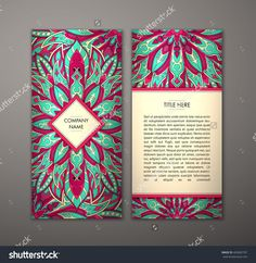 Flyer With Floral Mandala Pattern And Ornaments. Vector Flyer Oriental Design Layout Template, Size. Islam, Arabic, Indian, Ottoman Motifs. Front Page And Back Page. Easy To Use And Edit. - 403685707 : Shutterstock