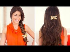 This DIY Hair Bow is very easy and simple to recreate. I will show you how to do it yourself in this hair tutorial.  Im wearing Luxy Hair Extensions in Chestnut Brown #6 ( http://www.luxyhair.com )  All you will need is :  - Sequin fabric tape - Hot glue - Scissors - Needle and a thread - Hair clip  * All of these tools can be found in stores l...