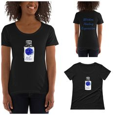 Witch Bottle Magic Correspondences T-Shirt in Blue  #witchbottle #magicclothing #witchclothing #colormagic #etsy Witch Bottles, Star Coffee, Color Magic, 30 And Single, Spiral, Snake, Trending Outfits, T Shirt, Blue