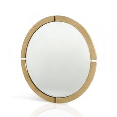 The Baron Armani Xavira Gold Round Mirror can go just about anywhere in your house with its classic design.