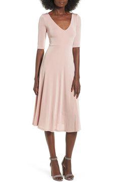14338452b9f BUY ASTR Label Shine Cross Back Midi Dress