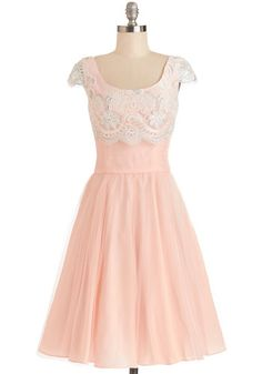Breathtaking Belle Dress in Rose - Wedding, Bridesmaid, Sheer, Woven, Long, Pink, White, Crochet, Special Occasion, A-line, Cap Sleeves, Better, Scoop, Fairytale, Pastel, Exclusives, Variation, Prom